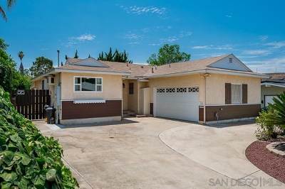 San Diego County Single Family Home For Sale: 4725 Greenbrier Ave