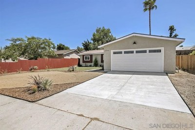 San Diego County Single Family Home For Sale: 9159 Honey Ln