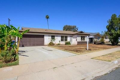 El Cajon Single Family Home For Sale: 1770 Peppervilla Dr