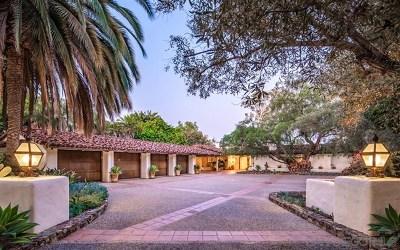 Rancho Santa Fe CA Single Family Home For Sale: $5,995,000