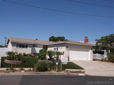 San Diego CA Single Family Home For Sale: $659,000