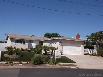 San Diego Single Family Home For Sale: 7112 Frakes