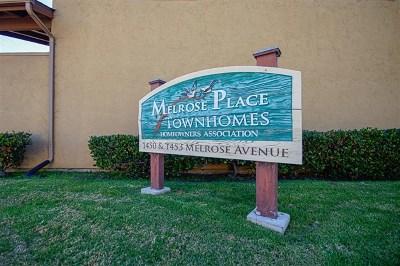Chula Vista Condo/Townhouse For Sale: 1450 Melrose Ave. #Unit #11