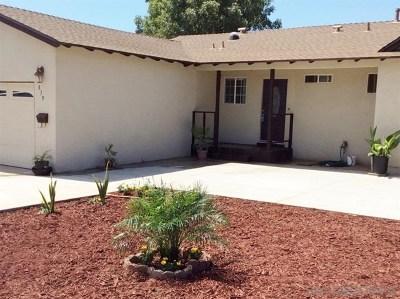 Escondido Single Family Home For Sale: 839 Camellia St