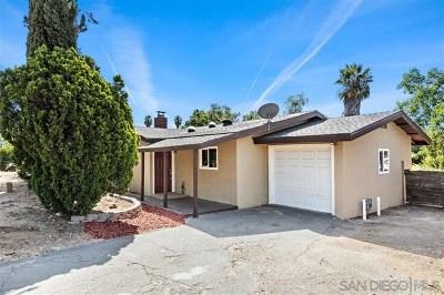 Fallbrook Single Family Home For Sale: 521 Twin Palm Cir