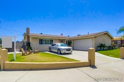 Lemon Grove Single Family Home For Sale: 1747 Costada Ct