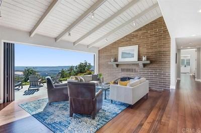 Oceanside Single Family Home For Sale: 6683 Morro Heights