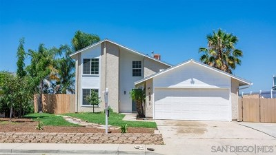 El Cajon Single Family Home For Sale: 8448 Cordial Rd