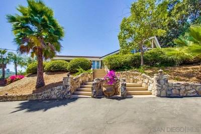 El Cajon Single Family Home For Sale: 4666 Vernette Dr