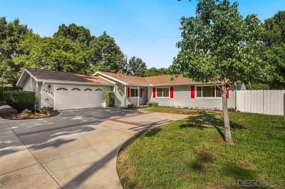 La Mesa Single Family Home For Sale: 8692 Echo Dr