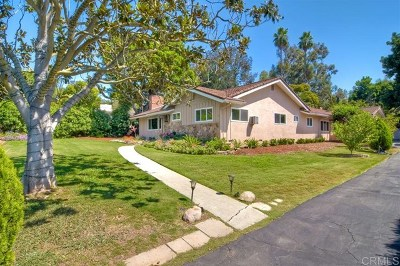 Poway Single Family Home For Sale: 13327 Stone Canyon Rd