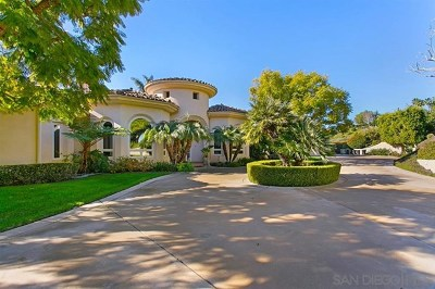 Rancho Santa Fe Single Family Home For Sale: 14810 Las Mananas
