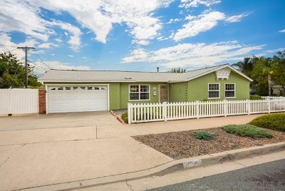 El Cajon Single Family Home For Sale: 875 Adele St