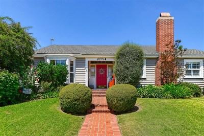 San Diego Single Family Home For Sale: 2976 Locust St