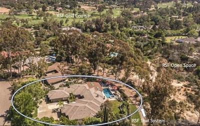 Rancho Santa Fe Single Family Home For Sale: 17524 Los Eucaliptos