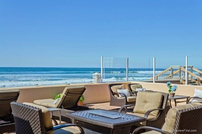 Del Mar Single Family Home For Sale: 2828 Ocean Front
