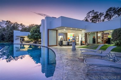 Rancho Santa Fe Single Family Home For Sale: 5410 Los Mirlitos