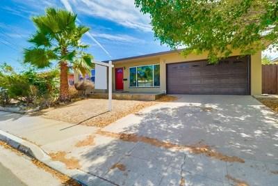 San Diego Single Family Home For Sale: 6451 Richard St.