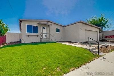 San Diego Single Family Home For Sale: 4987 Lakiba Palmer Ave