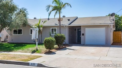 Escondido Single Family Home For Sale: 633 Aster St.