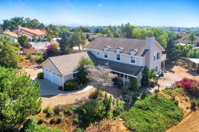 Fallbrook Single Family Home For Sale: 1612 McDonald Rd
