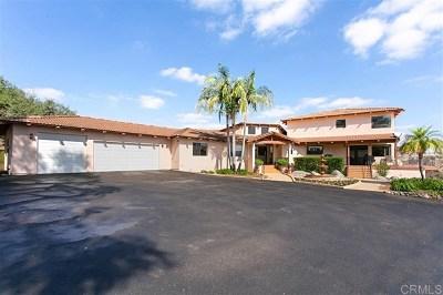 Vista Single Family Home For Sale: 3470 Fairview Lane