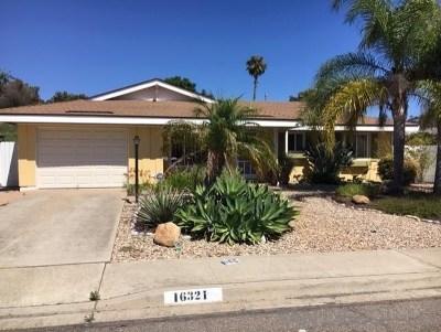 San Diego Single Family Home For Sale: 16321 Sarape Drive