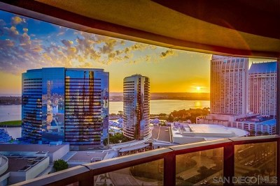 San Diego Condo/Townhouse For Sale: 100 Harbor Drive #2205