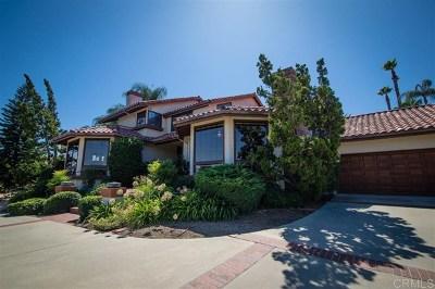 La Mesa Single Family Home For Sale: 11333 Sir Francis Drake