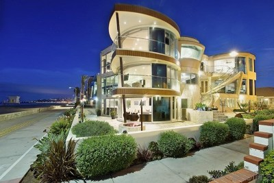 San Deigo, San Diego, San Diego/north Pacific Beach Single Family Home For Sale: 3675 Ocean Front Walk