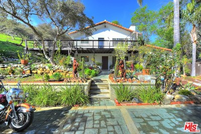 Topanga Single Family Home For Sale: 2365 Old Topanga Canyon Road