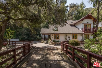 Topanga Single Family Home For Sale: 905 Old Topanga Canyon Road