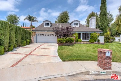 Calabasas Single Family Home Active Under Contract: 26905 Garret Drive