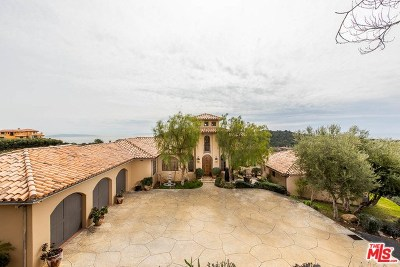 Topanga Single Family Home For Sale: 2656 Vista Del Mar Road