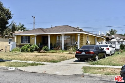 Bellflower Single Family Home For Sale: 9019 Mapleside Street