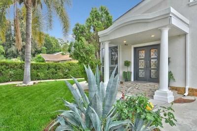 Sherman Oaks Single Family Home For Sale: 4485 Matilija Avenue