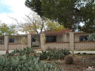 Yucca Valley Single Family Home For Sale: 3436 El Dorado Avenue