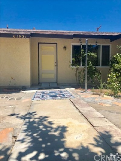 Joshua Tree Single Family Home For Sale: 61921 Grand View Circle