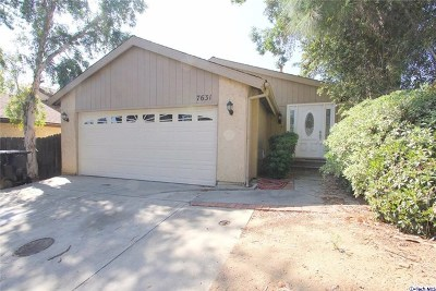 Tujunga Single Family Home Active Under Contract: 7631 Memory Drive