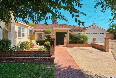 Burbank Single Family Home For Sale: 1210 N Valley Street