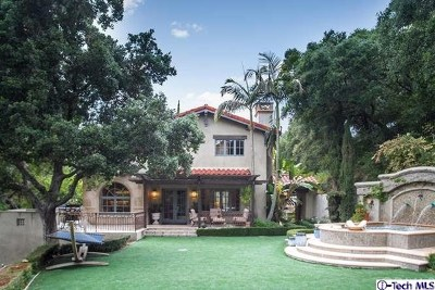 La Canada Flintridge Single Family Home For Sale: 3728 Madison Road