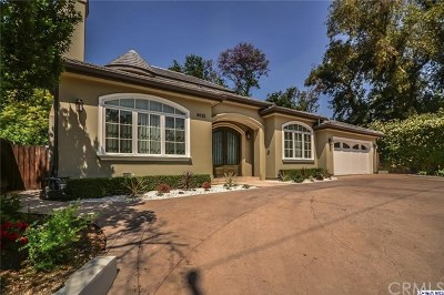 La Canada Flintridge Single Family Home For Sale: 4935 Oakwood Avenue