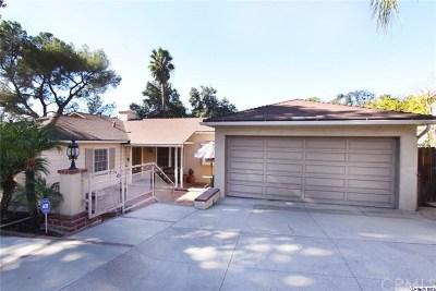 Glendale Single Family Home For Sale: 1853 Las Flores Drive