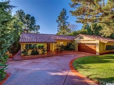 La Canada Flintridge Single Family Home For Sale: 5385 Ocean View Boulevard
