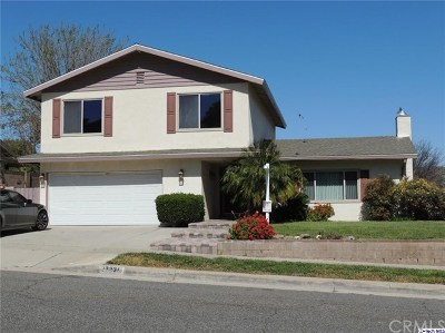 Saugus Single Family Home For Sale: 27238 Garza Drive