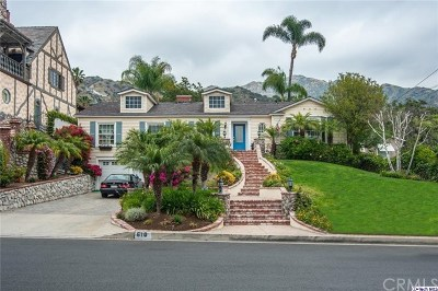Burbank Single Family Home For Sale: 610 S Sunset Canyon Drive