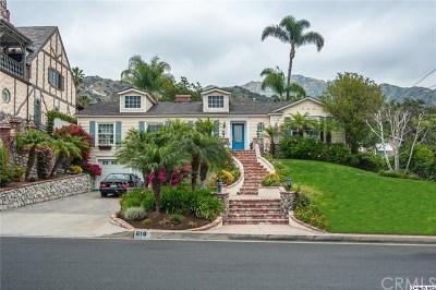 Burbank, Glendale, La Crescenta, Pasadena, Hollywood, Toluca Lake, Studio City, Alta Dena , Los Feliz Single Family Home For Sale: 610 S Sunset Canyon Drive