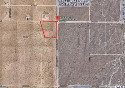 Victorville CA Residential Lots & Land For Sale: $1,200,000