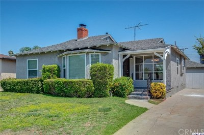 Burbank Single Family Home Active Under Contract: 2109 W Monterey Avenue