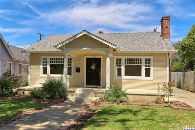 Glendale Single Family Home Active Under Contract: 725 Palm Drive